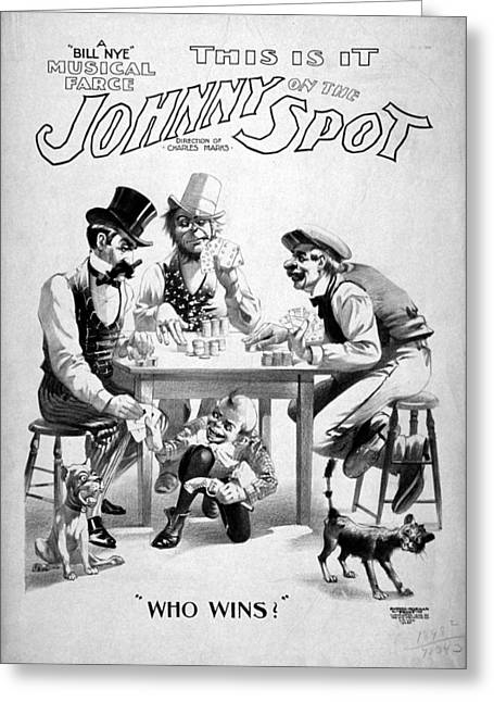 Theater Poster, C1898 Greeting Card by Granger