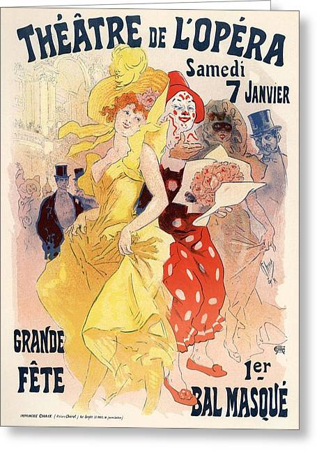 Theatre De L'opera Greeting Card by Gianfranco Weiss