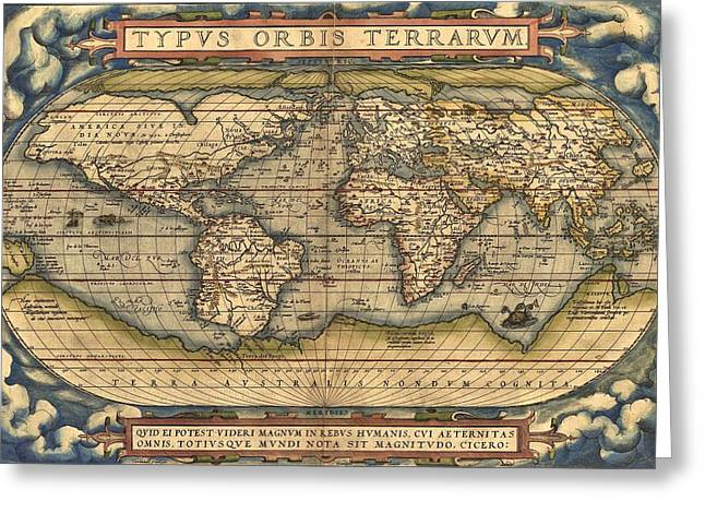 Theatrum Orbis Terrarum  Greeting Card