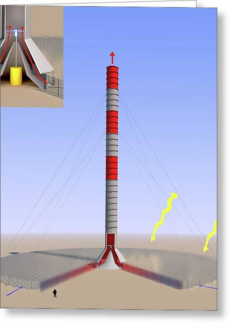 Thermal Updraft Power Greeting Card by Science Photo Library