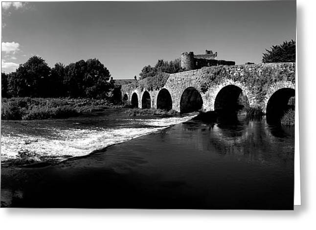 Thirteen Arch Bridge Over The River Greeting Card by Panoramic Images