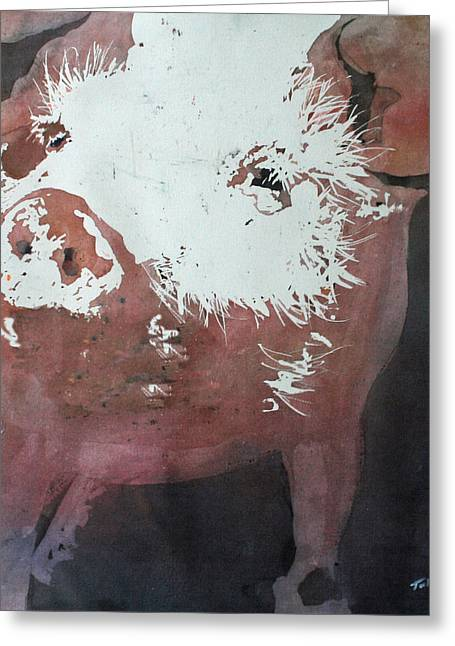 This Little Piggy Greeting Card by Tammy Tatum