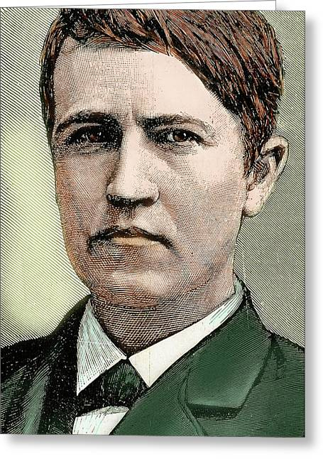 Thomas Alva Edison (1847-1931 Greeting Card