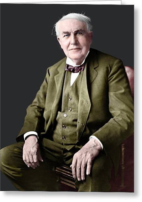 Thomas Edison Greeting Card