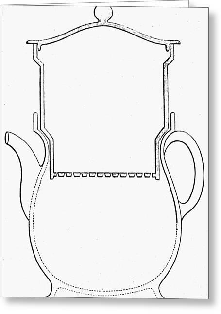 Thompson Drip Coffee Pot Greeting Card by Granger