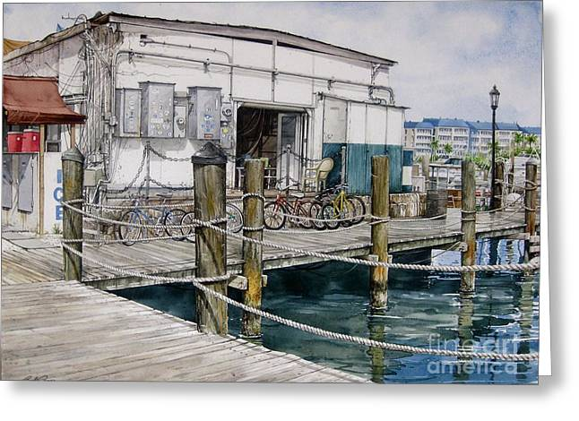 Thompson's Docks  Greeting Card by Bob  George