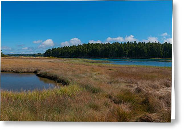 Thompson Island In Maine Panorama Greeting Card
