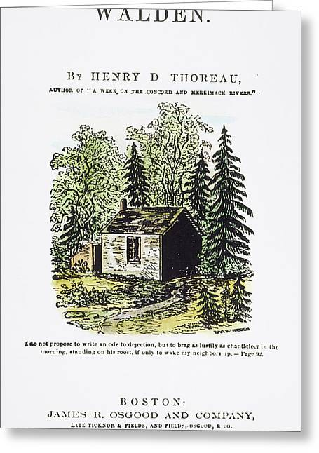 Thoreau Walden, 1875 Greeting Card