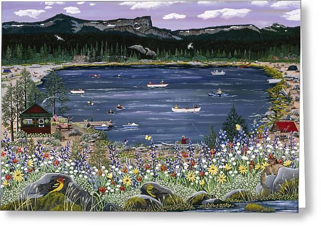 Three Creeks Lake Greeting Card