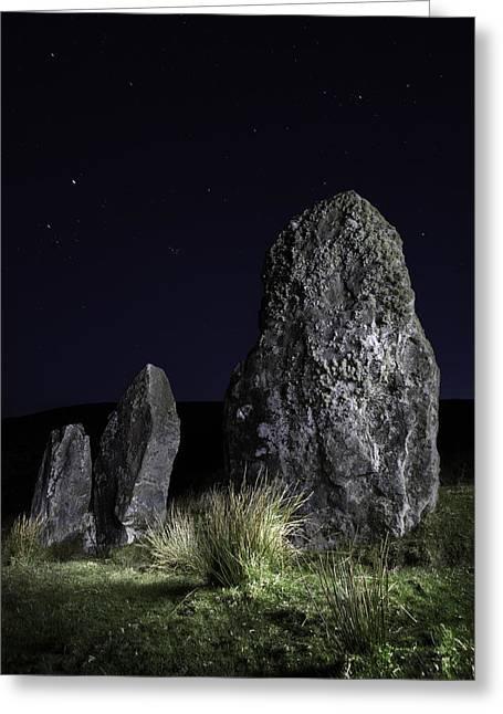 Three Standing Stones Greeting Card