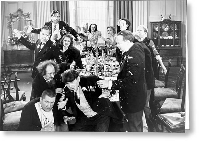 Three Stooges: Film Still Greeting Card