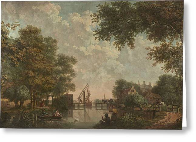 Three Wall Hangings With A Dutch Landscape Greeting Card