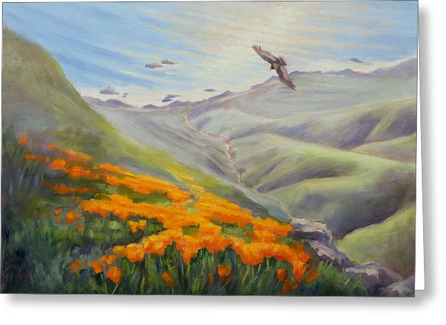Through The Eyes Of The Condor Greeting Card by Karin  Leonard