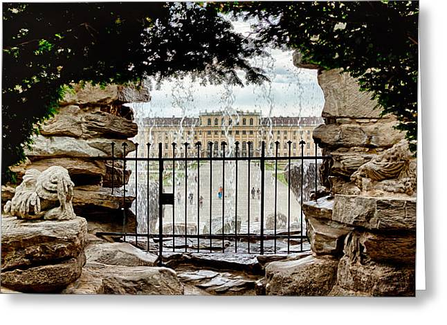 Through The Gate Greeting Card by Viacheslav Savitskiy