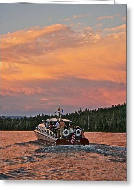 Thunderbird Sunset Greeting Card