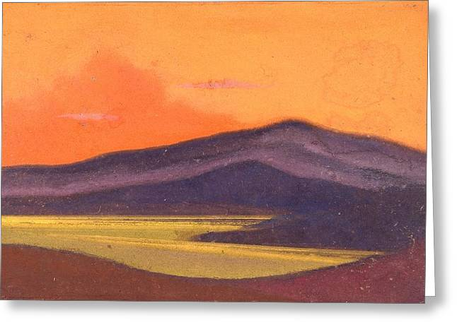 Tibet Greeting Card by Nicholas Roerich