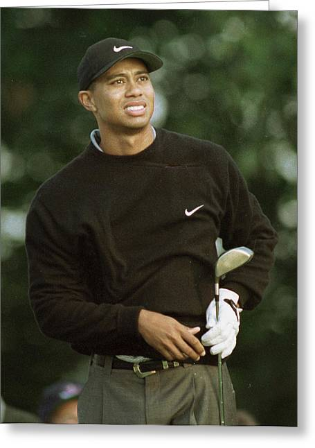 Tiger Woods. Greeting Card