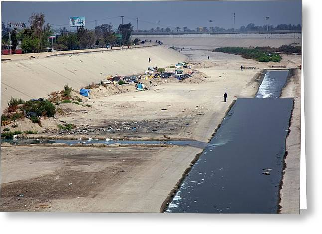 Tijuana River Greeting Card by Jim West