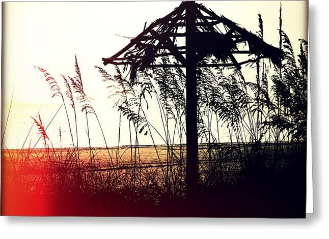 Tiki At Sunset Greeting Card