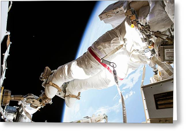 Tim Kopra's Spacewalk Greeting Card