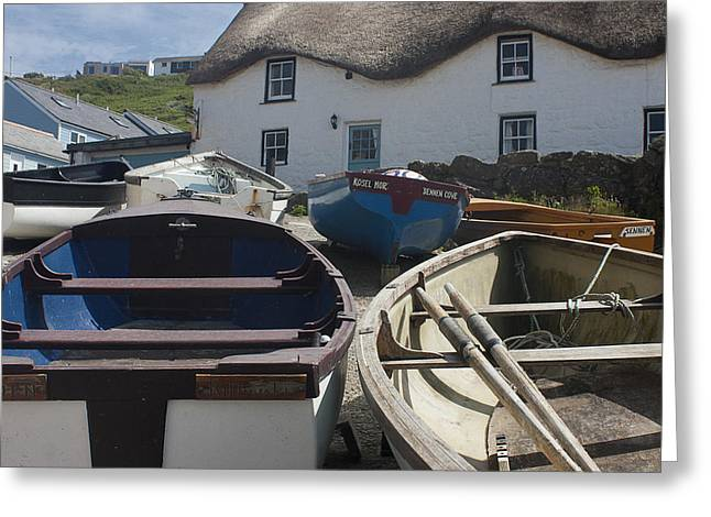 Tinker Taylor Cottage Sennen Cove Cornwall Greeting Card by Terri Waters