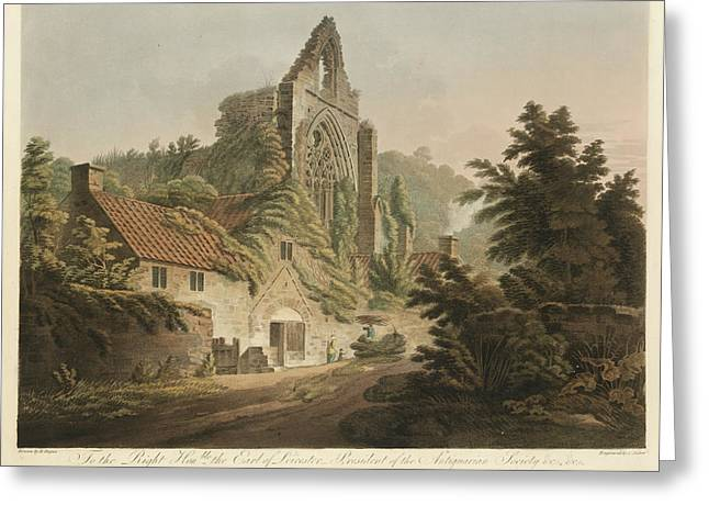 Tintern Abbey Greeting Card by British Library