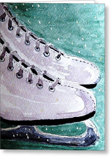 To Skate Greeting Card by Angela Davies
