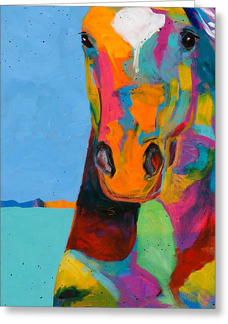 Tobiano Greeting Card by Tracy Miller