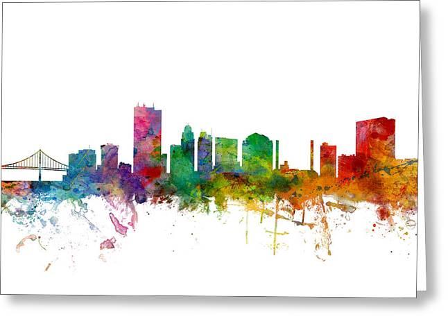 Toledo Ohio Skyline Greeting Card by Michael Tompsett