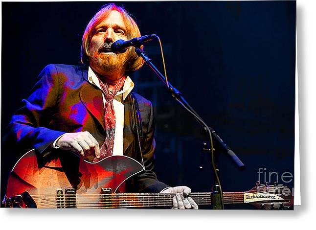 Tom Petty Greeting Card by Marvin Blaine