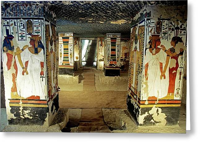 Tomb Of Queen Nefertari Greeting Card by Patrick Landmann/science Photo Library