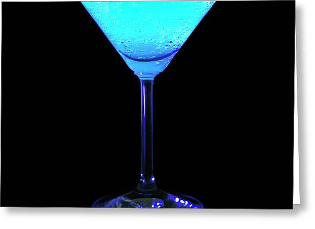 Tonic Water Fluorescing Greeting Card by Science Photo Library
