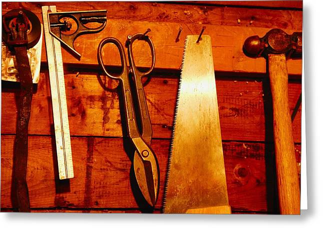 Tools Of The Trade Greeting Card by Don Hammond