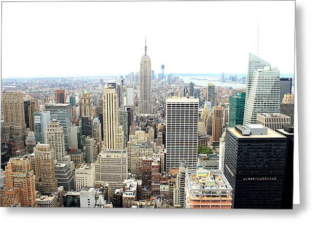 Top Of The Rock Greeting Card by Jon Cotroneo