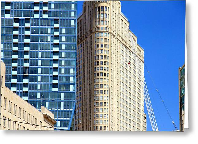 Toronto Architecture Greeting Card by Valentino Visentini