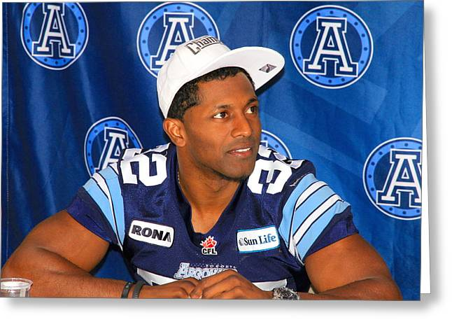 Toronto Argonauts Players Signing Autographs Greeting Card by Valentino Visentini