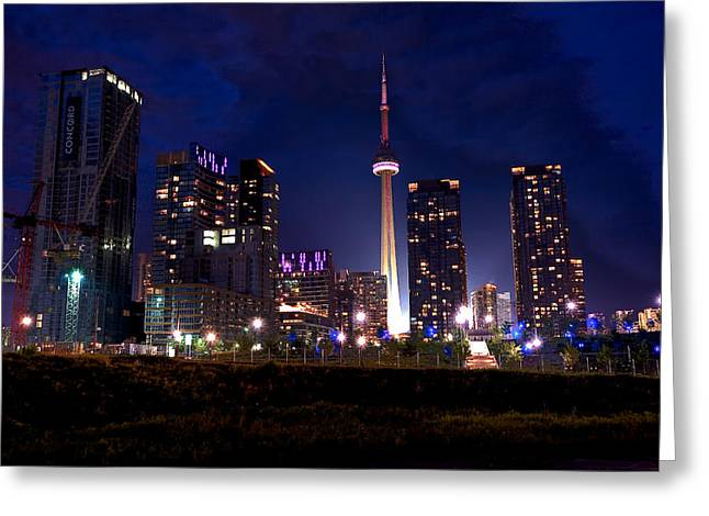 Toronto By Night Greeting Card