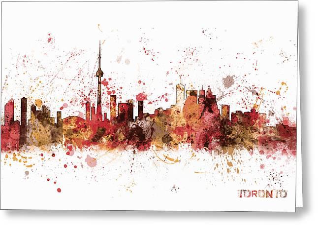 Toronto Canada Skyline Greeting Card by Michael Tompsett
