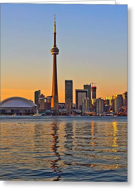 Toronto City View Greeting Card by Marek Poplawski