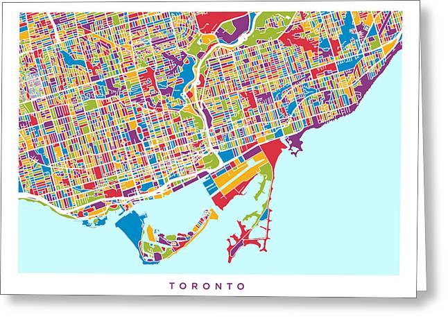 Toronto Street Map Greeting Card