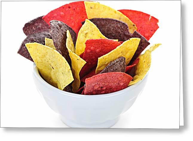 Tortilla Chips Greeting Card