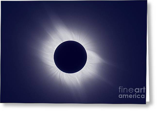 Total Solar Eclipse At Totality Greeting Card by Laurent Laveder