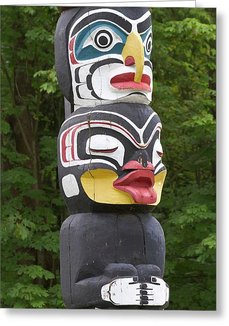 Totem Pole, Vancouver, British Greeting Card