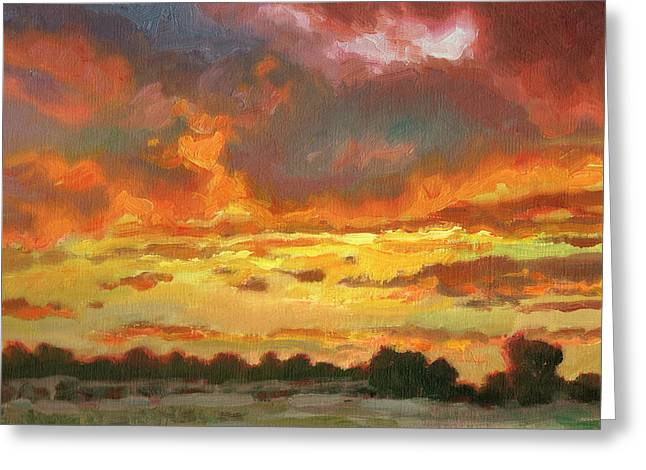 Touch Of Gold Greeting Card by Kevin  McCain