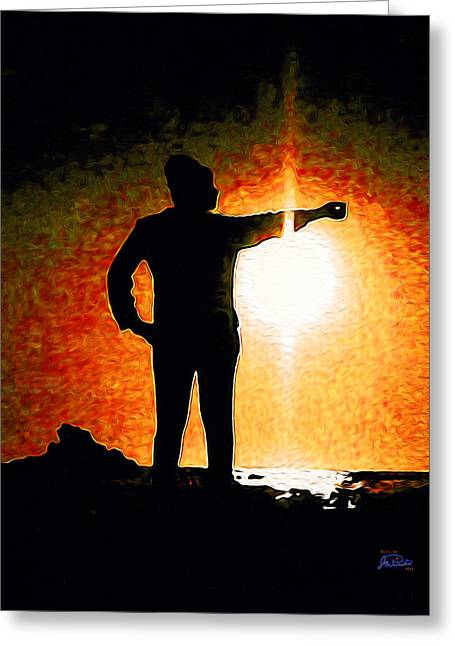 Touching The Sun Greeting Card