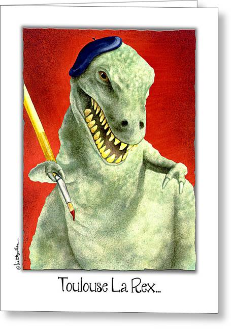 Toulouse La Rex... Greeting Card by Will Bullas