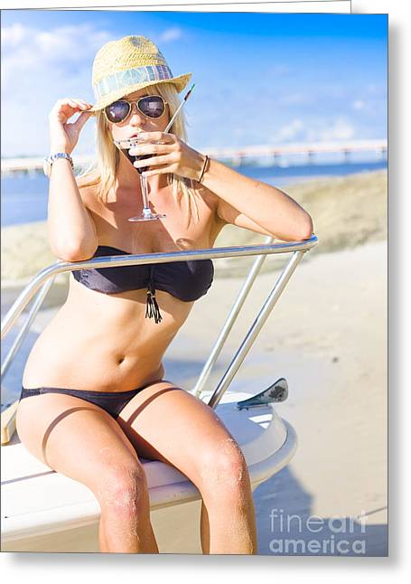 Tourist On Summer Vacation To Tropical Paradise Greeting Card by Jorgo Photography - Wall Art Gallery