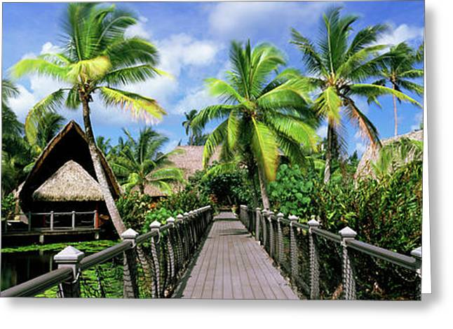 Tourist Resort, Tahiti, French Polynesia Greeting Card by Panoramic Images