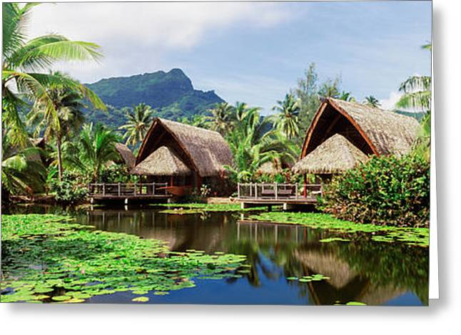 Tourist Resorts, Tahiti, French Greeting Card by Panoramic Images