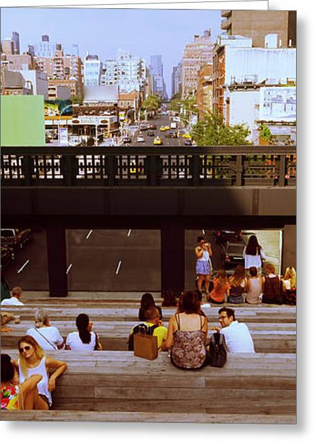 Tourists In An Elevated Park, High Greeting Card by Panoramic Images